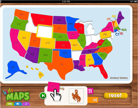 Kids Maps An Interactive Map Puzzle - Interactive us map for kids