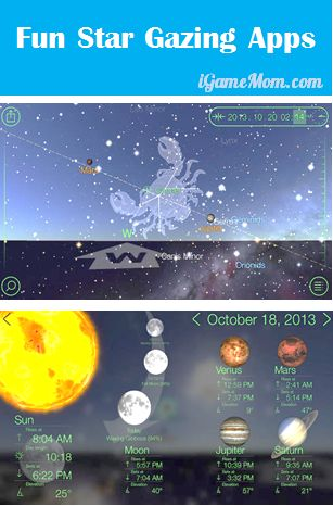 Two stargazing apps showing stars you are supposed to see in the sky on the screen with relevant data, one is free! Great astronomy apps for kids to make outdoor science exploration fun!