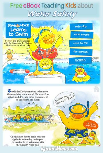 Free Book App Teaching toddler, preschooler and kindergarten kids Water Safety, with simple and easy to remember water rules that kids understand.