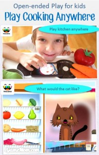 Play Kitchen anywhere - fun open ended play from Toca Kitchen app for kids