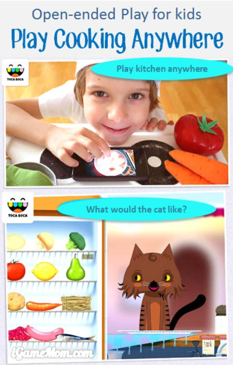 toca kitchen - open-ended play app for kids