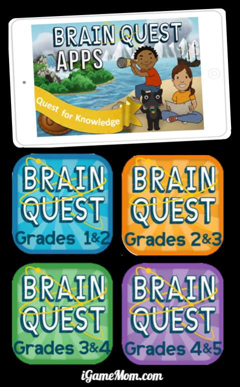Brain Quest Apps for Kids Grade k to 5, math, science, language, social study. Review and practice study with fun.