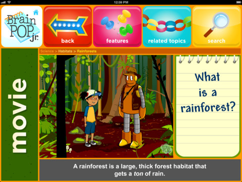 What is the target age range for BrainPOP videos?