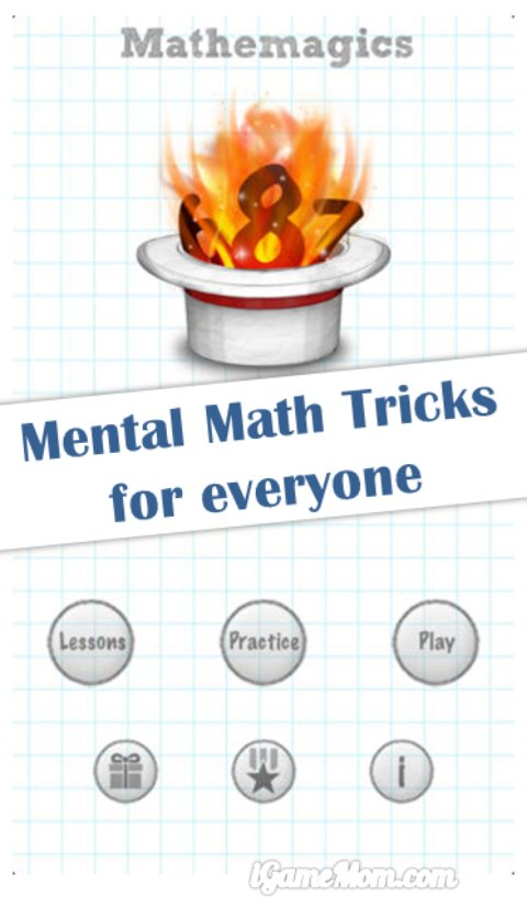 Mathemagics - mental math tricks app