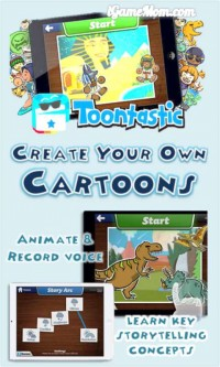 Create your own Cartoons with Toontastic app for kids
