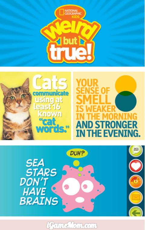 Weird But True free app from National Geographic Kids