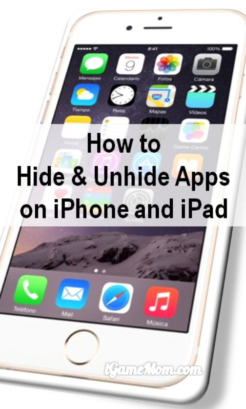 How to hide unhide app icon on iPhone iPad