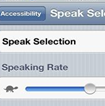 Text To Speak Function on iPhone iPAD