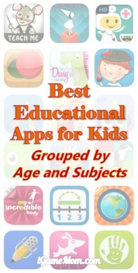Best Educational Apps for Kids Grouped by Age Subject