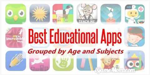 Best educational apps for kids, grouped by kids age and learning subjects: apps for preschool, for kindergarten, for elementary school, and for middle and high school; math apps, science apps, nature app, reading apps, …