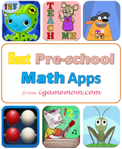 Best Preschool Math Apps from iGameMom