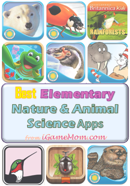 Best animal and natural science apps for elementary kids - a great STEM resource for school or homeschool