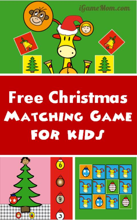 free Christmas matching games for kids