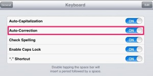 Have iPhone iPAD Auto Correct Spelling when typing