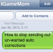 How to Stop Funny Auto Correct