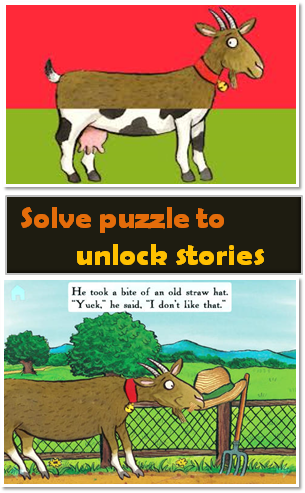 solve puzzle to unlock stories - Animal SnApp Farm App