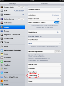 How to lock iPAD or iPhone Screen - Step 2