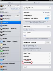 How to lock iPAD or iPhone Screen - Step 2