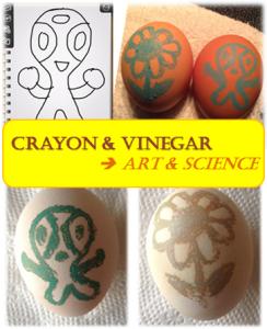 Crayon Vinegar Egg