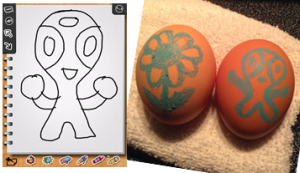 Draw on Egg Step 1
