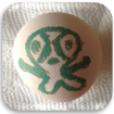 Off screen with app – draw on egg