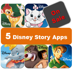 Five Disney Story Apps on Sale