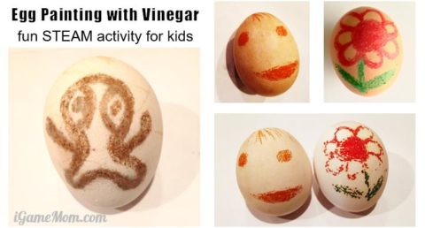 egg coloring STEAM kids activity science art