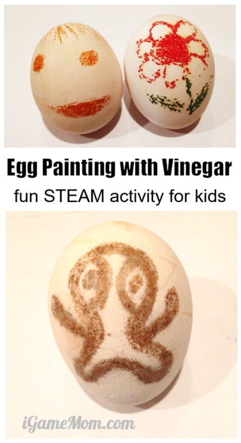 Egg painting with vinegar, fun STEAM activity combining science and art   Science craft project for kids   Easter
