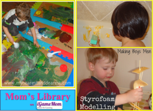 Creative play ideas from Mom's Library on iGameMom Apr3-13