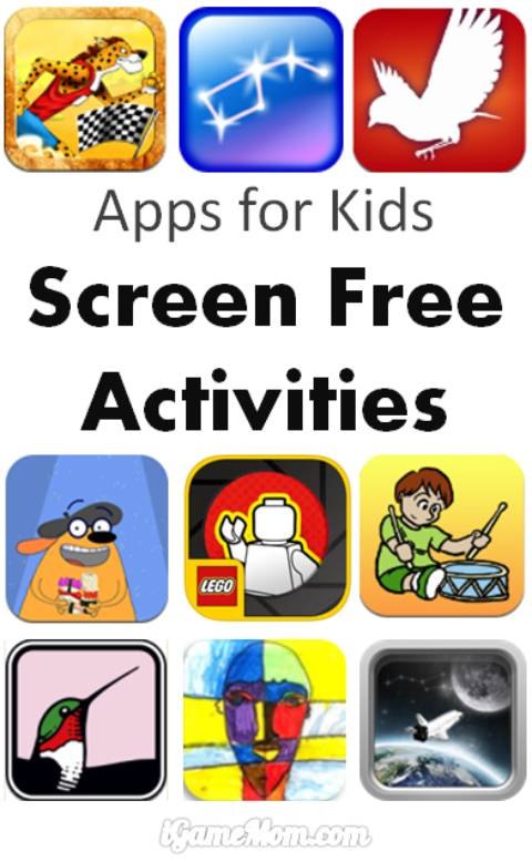 apps kids screen free activities
