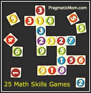 25 math skills games