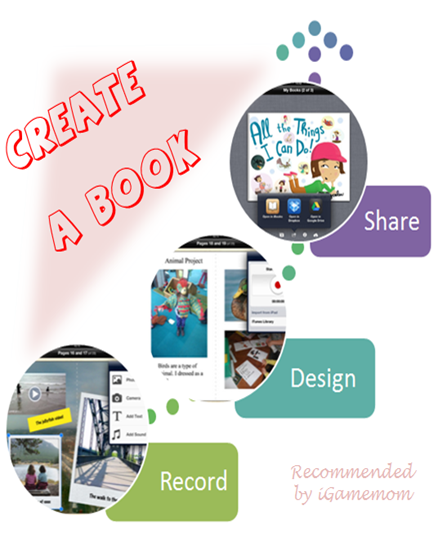 Book Creator App recommended by iGameMom