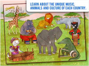 Jazzy World Tour - Musical Journey for Kids app