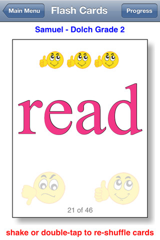 Smiley Sight Words App 1