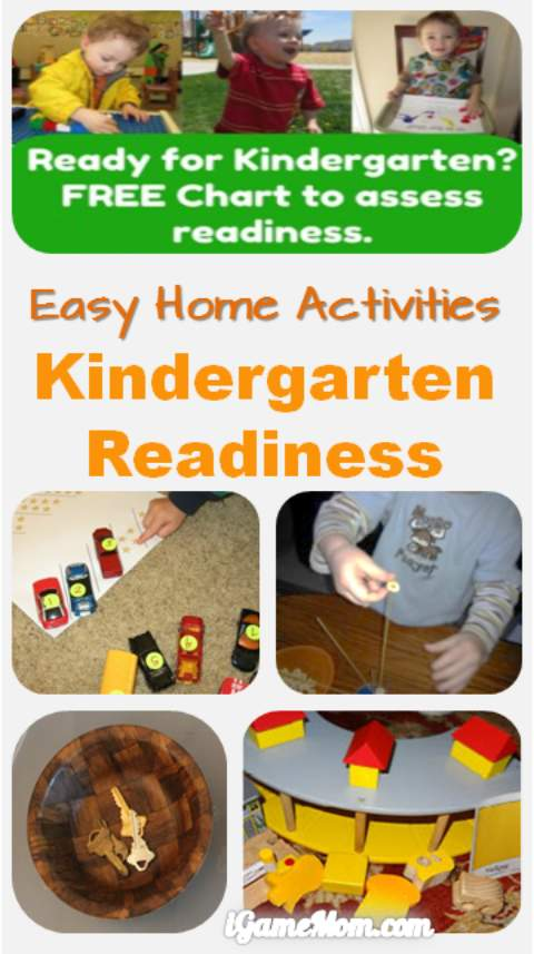 easy home activities for kindergarten readiness - plus free kindergarten readiness assess chart