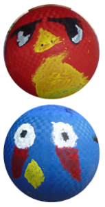 Angry Birds on Balls