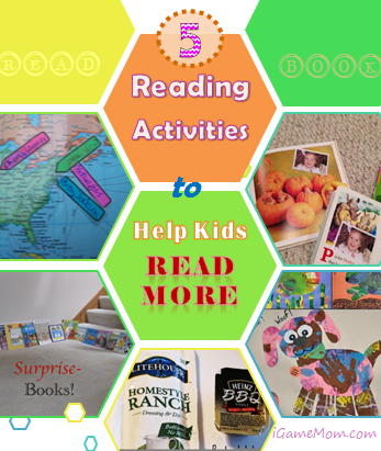 5 Reading Activities to Help Kids Read More