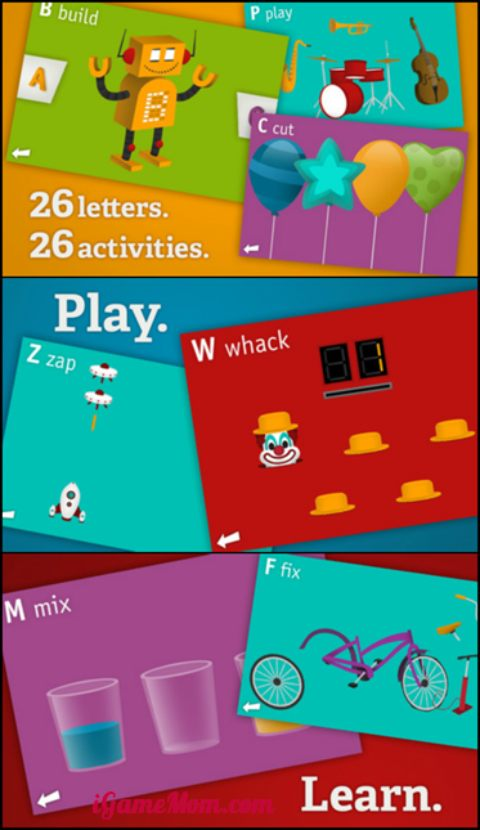 AlphaTot - a fun alphabet app for preschool kids