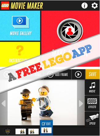 A FREE LEGO App that kids can make stop motion picture movies - kids learn how stop motion picture works hands-on and be creative at the same time. A fun STEM (or STEAM) app for kids.