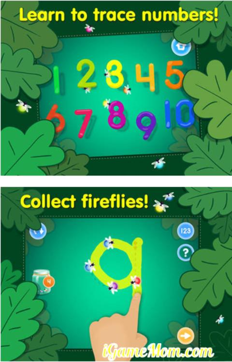 Learn numbers and handwriting with 123 Tracing app for kids