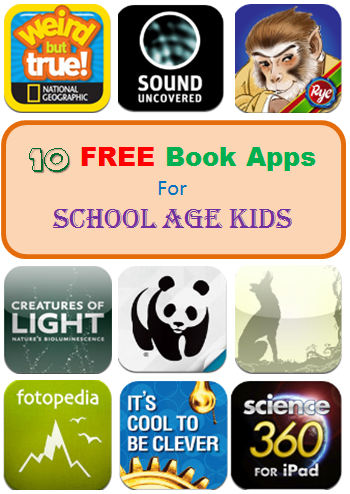 10 free book apps for school age kids - Kid Free Books