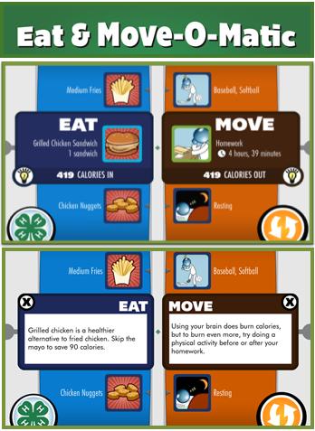 Eat & Move-O-Matic Free App