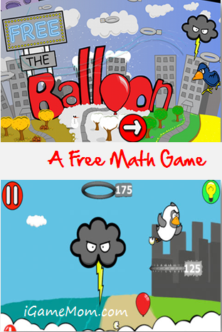 Free the Balloon Free Math App