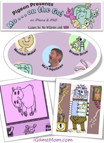 Pigeon Presents Mo on the Go Fun App