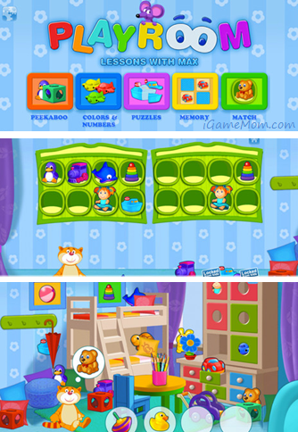 Playroom Lessons with Max Learning App