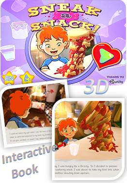 Sneak a Snack 3D Interactive Book App