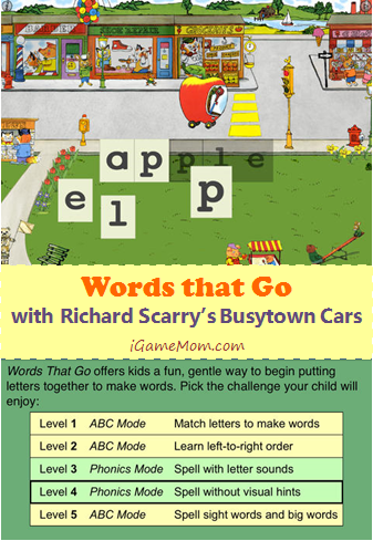 Words That Go With Ricard Scarry Busytown Cars App