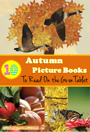 10 Autumn Picture Books to Read on any Tablet -- if you have a projection app or a projector, you can share the book on your whiteboard or other bigger screen, like a TV or a bigger computer, and kids can watch the interactions on the book from you, such as highlights, drawings.