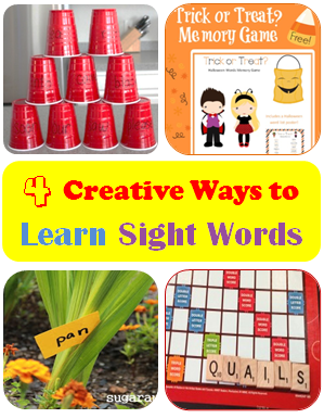 4 creative ways to learn sight words