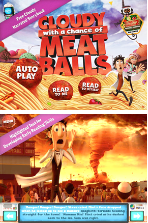 Cloudy with a Chance of Meatballs Storybook App